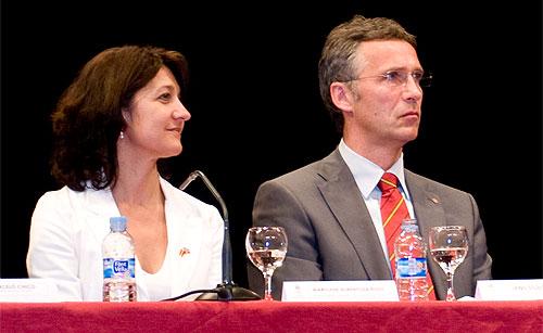 Marylène Albentosa Ruso og Jens Stoltenberg