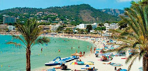 Strand i Spania