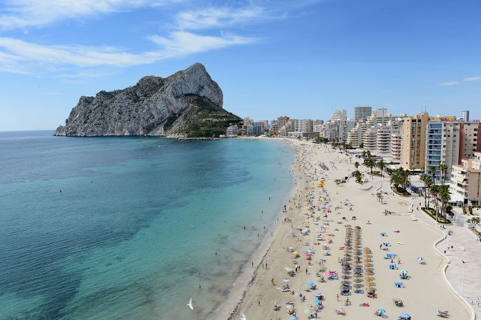 Strand i Calpe Playa-de-la-Fossa