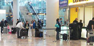 Kontor for leiebil på Alicante flyplass
