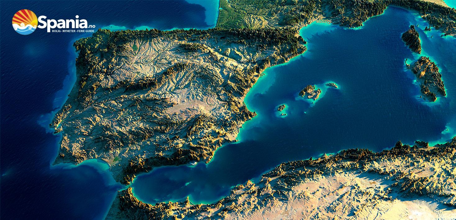 Enkleste søkbare Spania-kart med Zoom