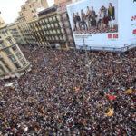 Foto: Det spanske politiets aksjoner under valget i Catalonia møtte dagen etter fordømmelse fra en rekke europeiske land, uavhengig av spørsmålet om løsrivelse. Bilde av demonstrasjonen i sentrum av Barcelona tirsdag 3. oktober.