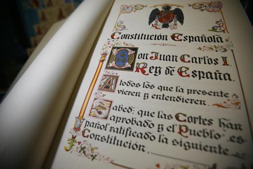 Foto: Faksimile av den spanske grunnloven fra 1978 (Gabriel Pecot).