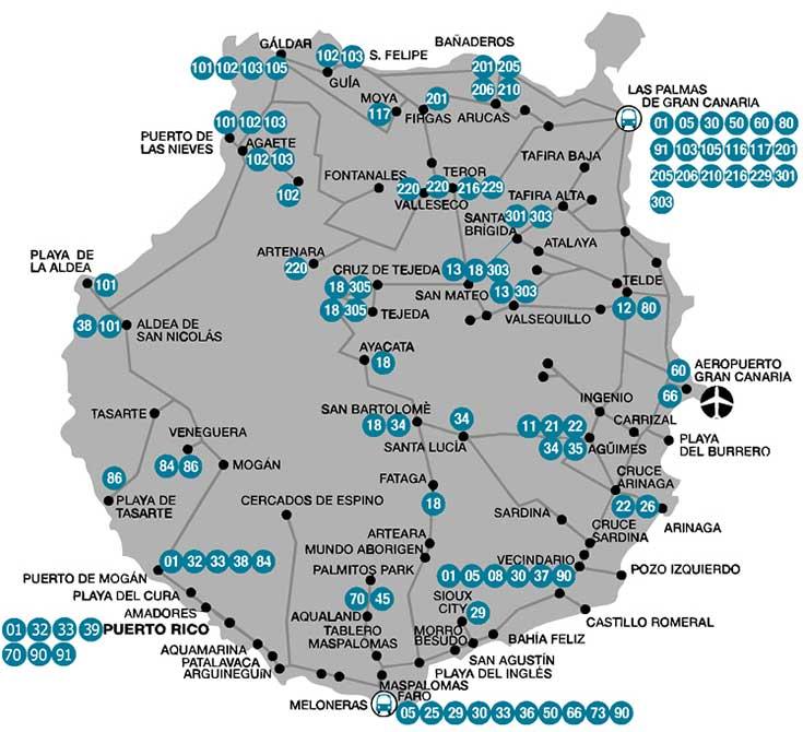 flyplasser spania kart Gran Canaria Las Palmas flyplass (LPA)   Transport, leiebil, taxi  flyplasser spania kart