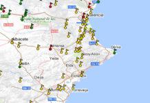 Foto: Den nye kartet utarbeides på vegne av regionsadministrasjonen i Valencia og inngår i den første offisielle oversikten over massegraver i Valencia-regionen. Bildet viser et tidligere kart over massegraver på Costa Blanca og distriktene rundt, utarbeidet på vegne av det spanske justisdepartementet (Ministerio de Justicia de España).
