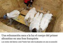 Foto: Restene etter José Pastor García ble funnet i begynnelsen av mars på en kirkegård i byen Paterna i Valencia. Det skal være frivillige fra Arqueo Antro som står bak utgravingen.