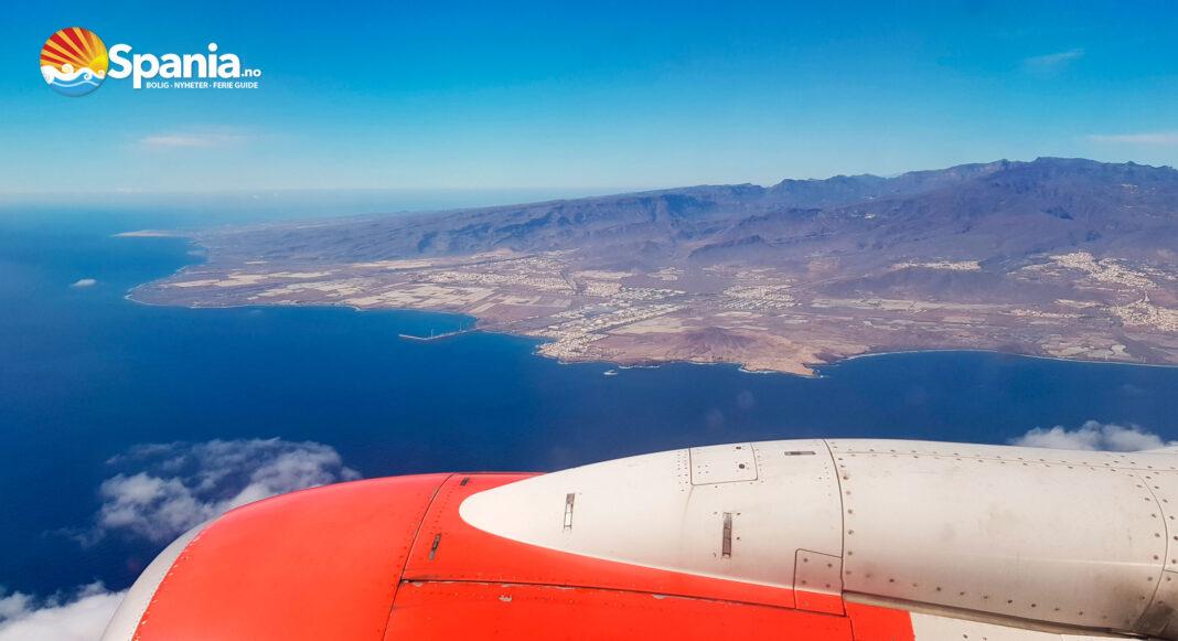 Gran Canaria sett fra ett av Norwegian sine fly.