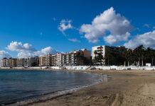 Playa de Los Locos stranden i Torrevieja.