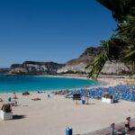 Amadores stranden i Mogán er en av strendene som ikke tilfredsstilte kvalitetskravene i 2019. [Foto: Bård Ove Myhr.]