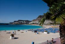 Amadores stranden i Mogán kommune er svært populær blant de mange nordmenn som tilbringer vinteren syd på Gran Canaria. [Foto: Bård Ove Myhr.]