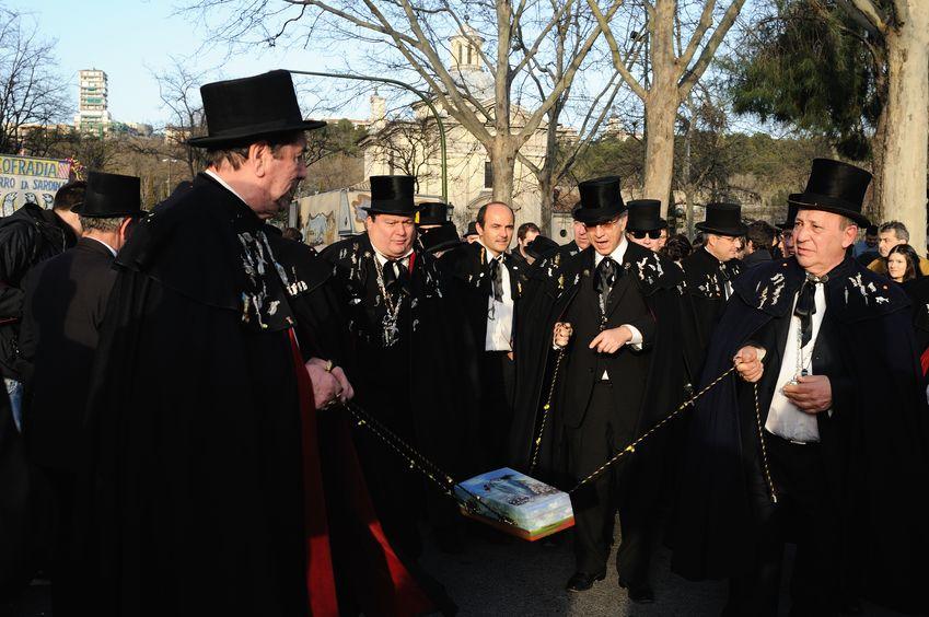 Fra Sardinens begravelse i Madrid.
