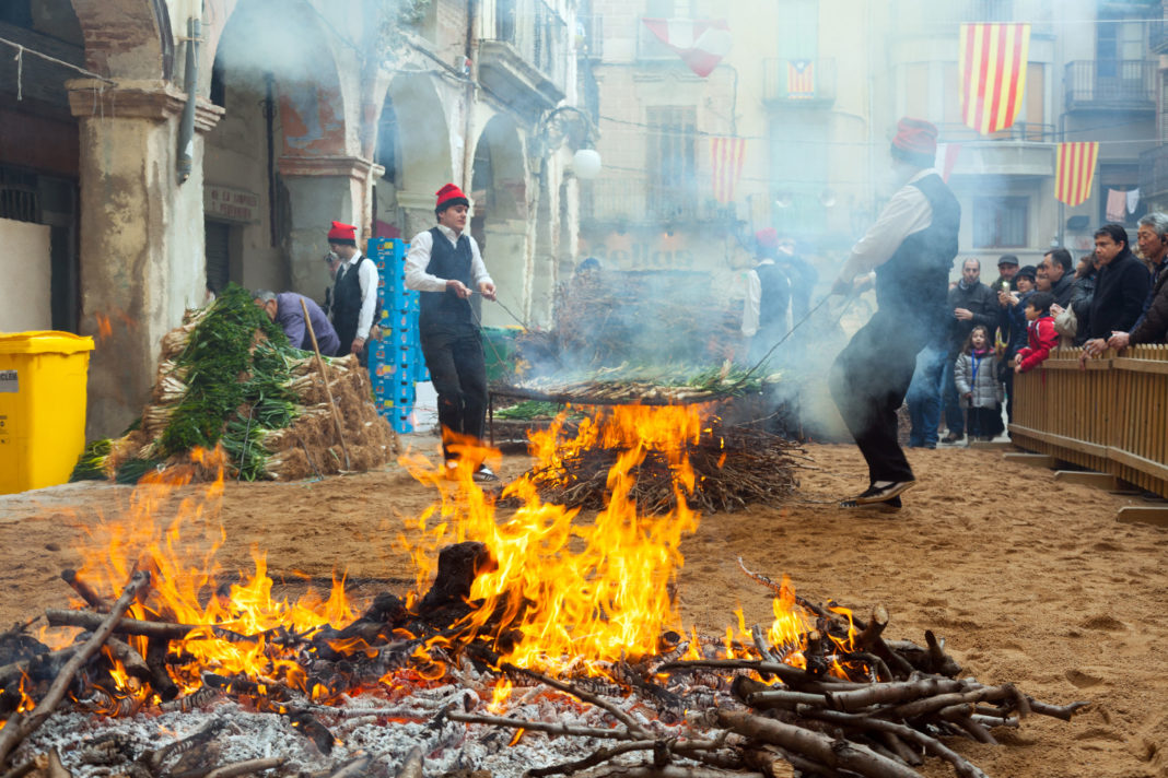 Calcotada - Løkfestival i Barcelona Spania