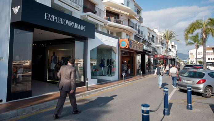 Butikker i Puerto Banús Marbella