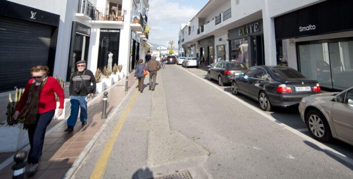 Butikker bak Puerto Banús Marbella