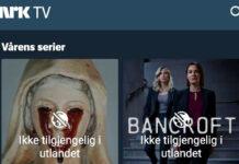 Internasjonale serier vist på NRK er fortsatt «Ikke tilgjengelig i utlandet» via NRKs app.