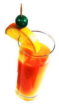 Rødfargen i en Tequila Sunrise kommer fra Granateple.