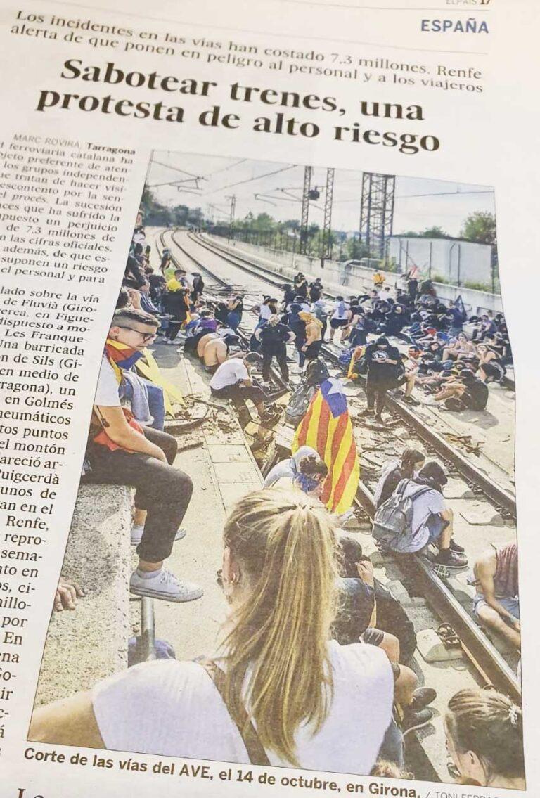 Blokkering av toglinjene har kostet 7.3 millioner Euro