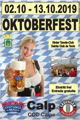 I over 30 år har man feiret den tradisjonelle tyske oktoberfesten i Calpe med øl, pølser og musikk.