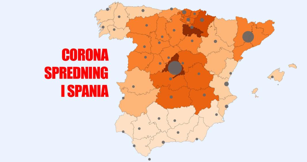 Corona smitte i Spania