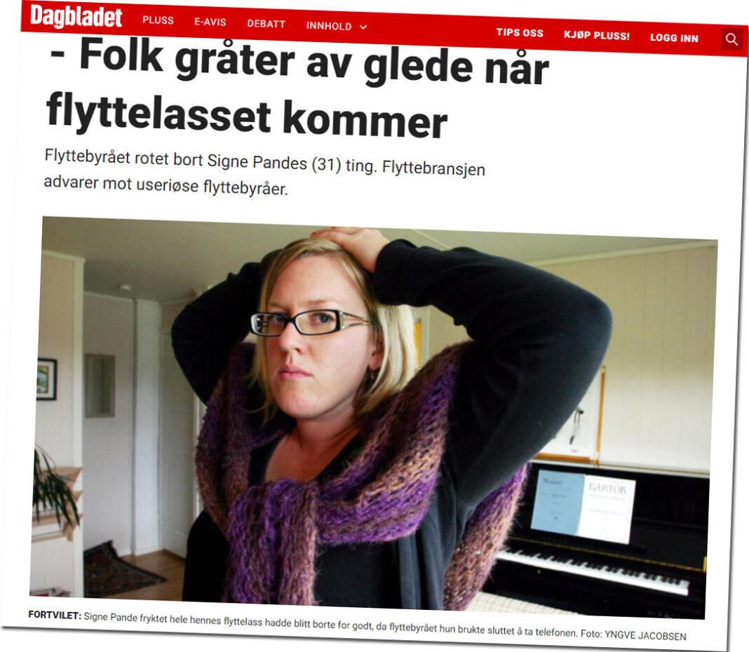 Torkjell Baltzersen - flyttebyrå